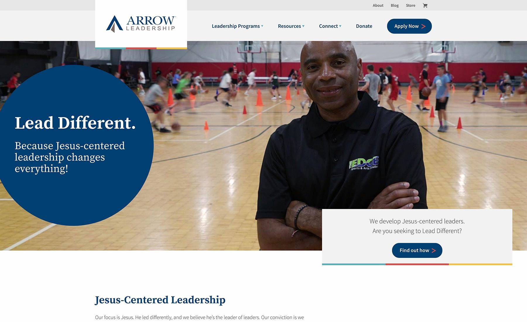 Arrow Leadership Desktop Website Preview