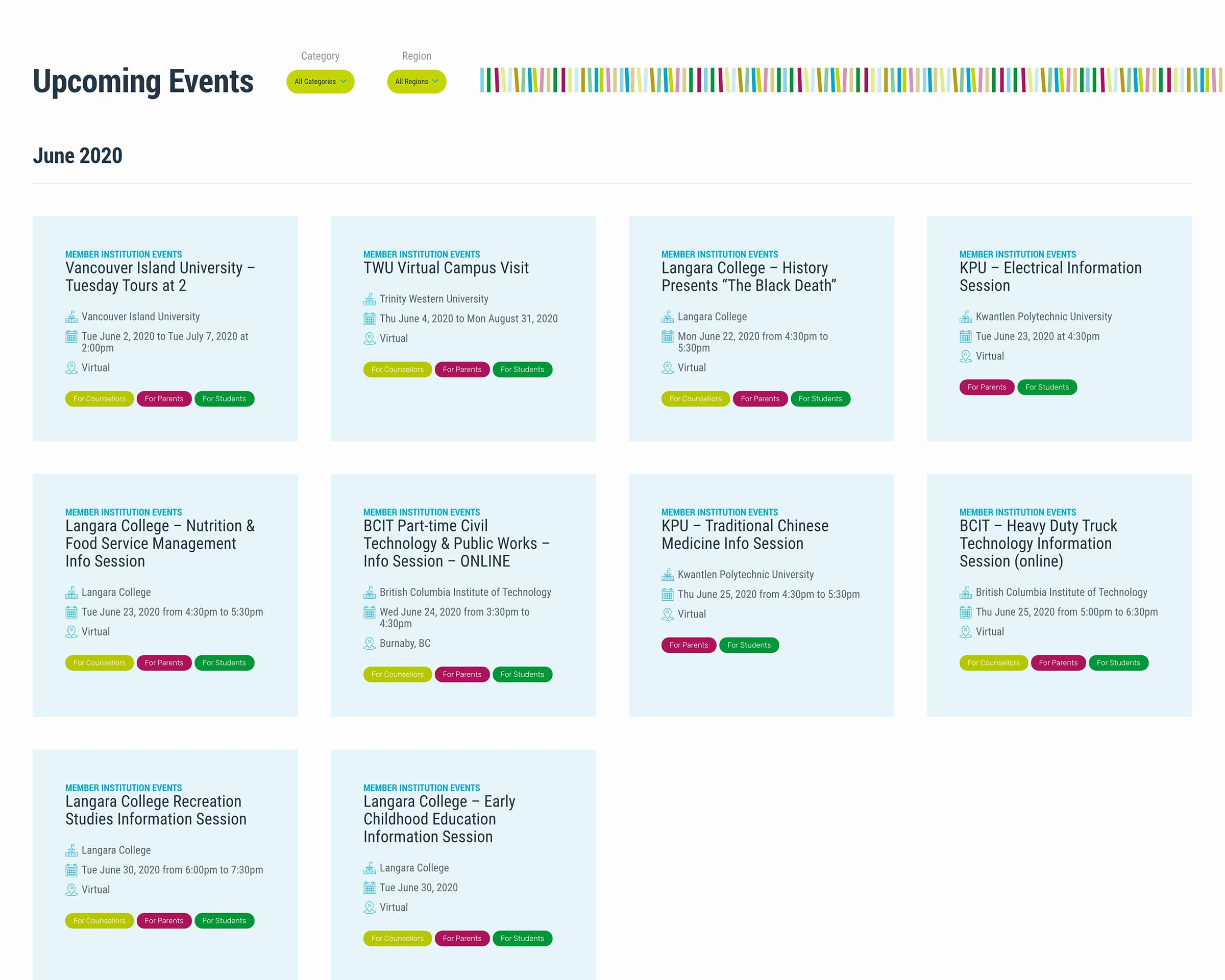 Events Listings